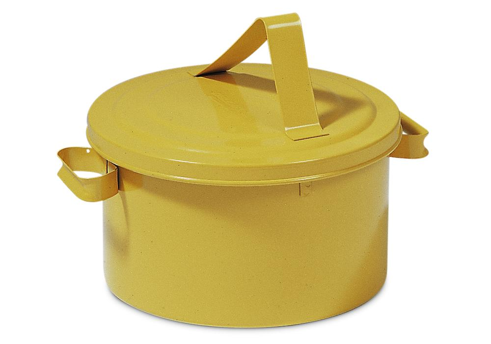 Immersion tank in steel, 7.5 litre capacity, yellow