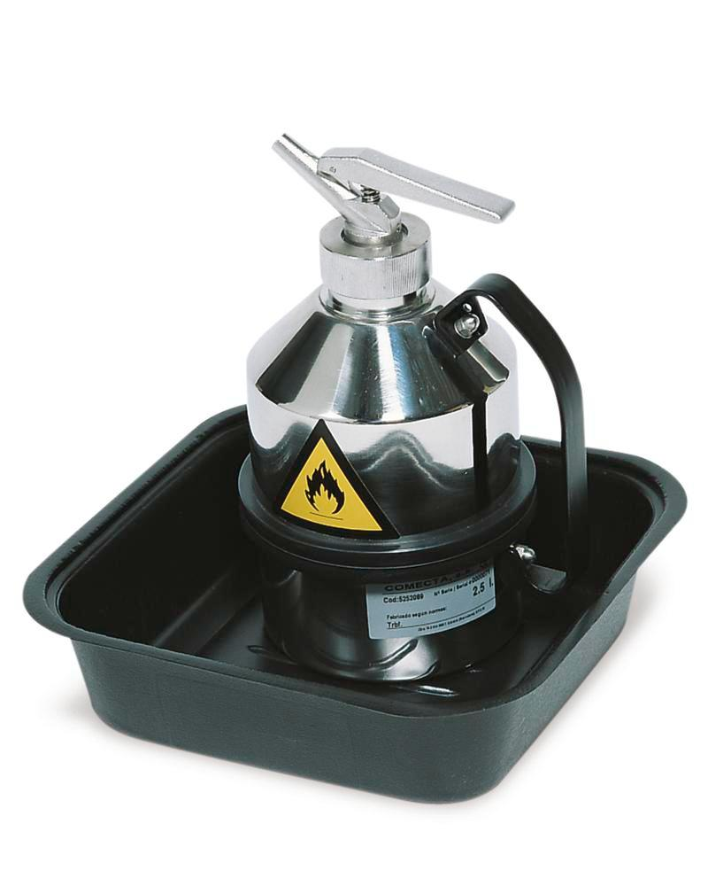 Laboratory sump, polyethylene, for draining and decanting, 5 litre capacity