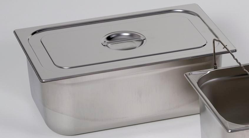 Lid for small container GN 1/4, stainless steel - 1