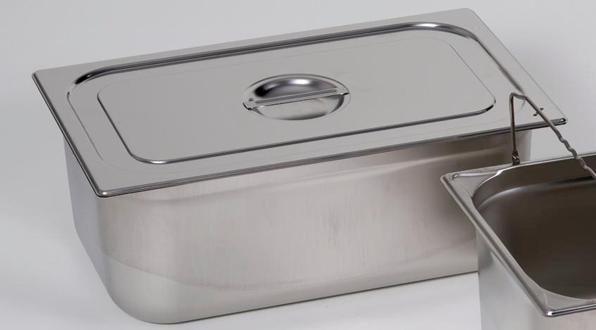 Lid for small container GN 1/6, stainless steel
