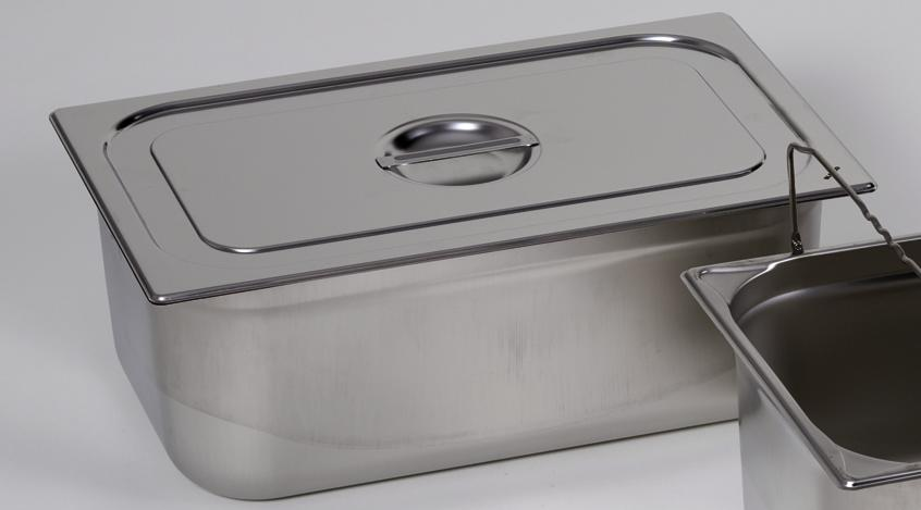 Lid for small container GN 2/4, stainless steel - 1