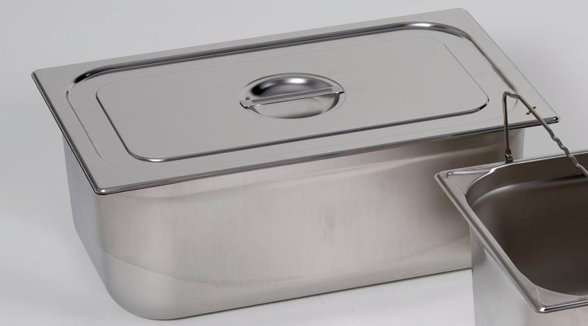 Lid for small container GN-B 1/2, stainless steel, with handle - 1
