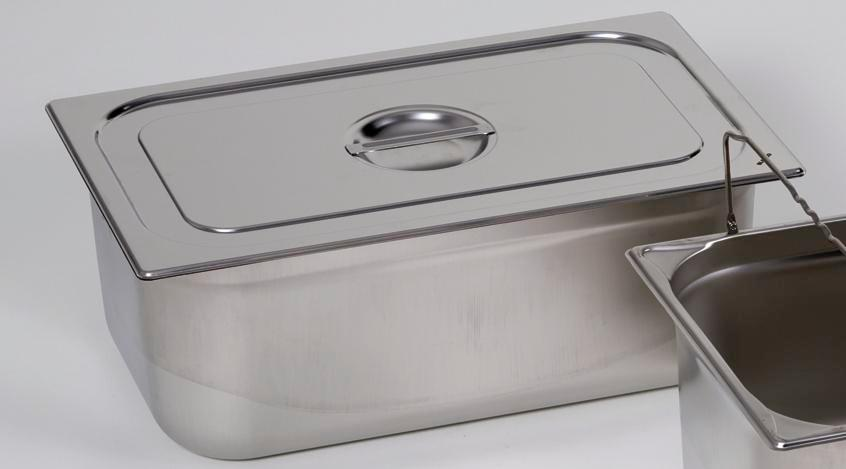Lid for small container GN-B 2/3, stainless steel, with handle - 1