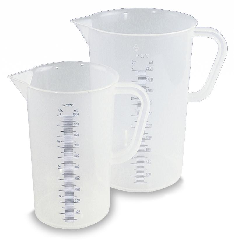 Measuring jugs, polypropylene, with imprinted measuring scale 0.5 litre capacity, 10 pack