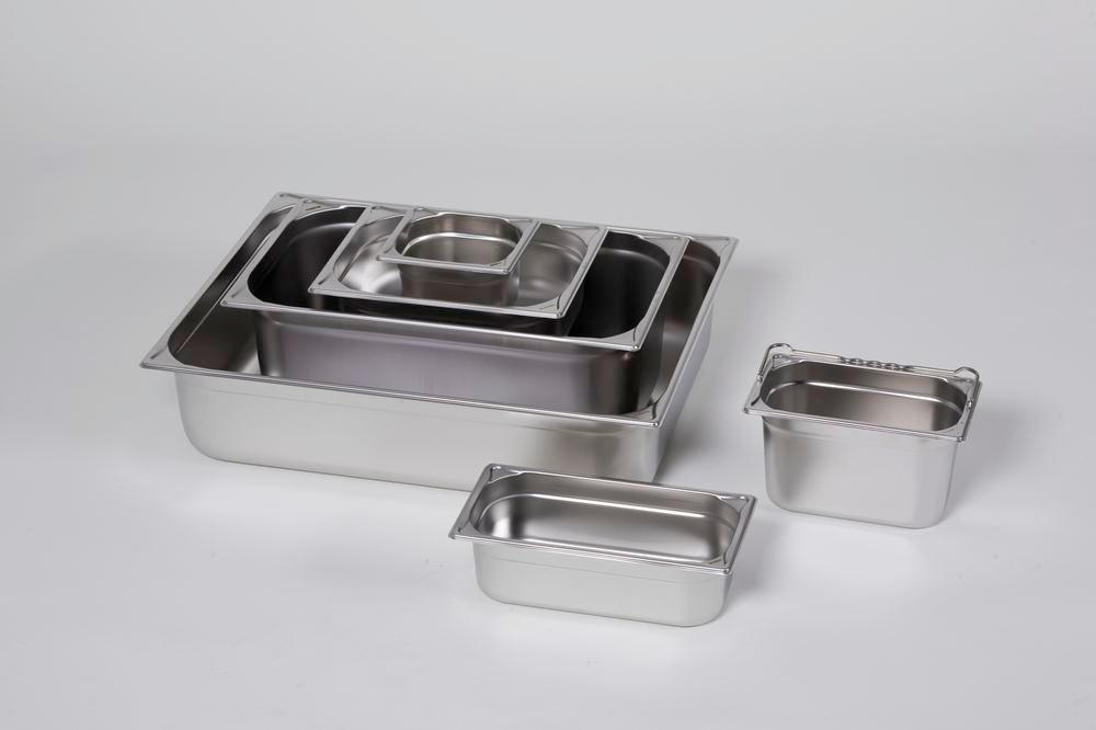 Small container GN 2/1-100, stainless steel, 28.9 litre capacity