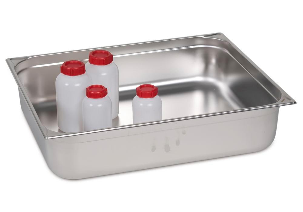 Small container GN 2/1-150, stainless steel, 43.4 litre capacity