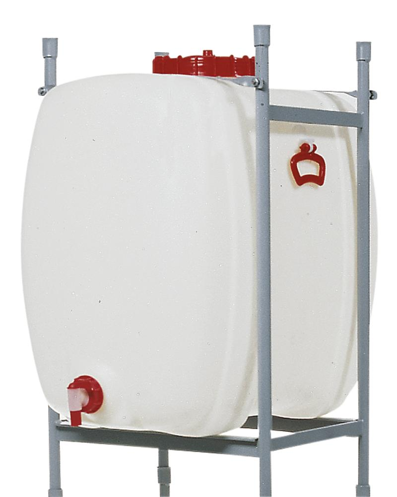 Space saving tank, polyethylene, with tap, 60 litre capacity