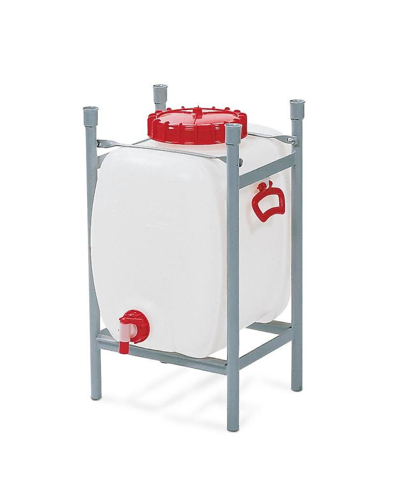 Stacking frame for space saving tank with 60 litre capacity