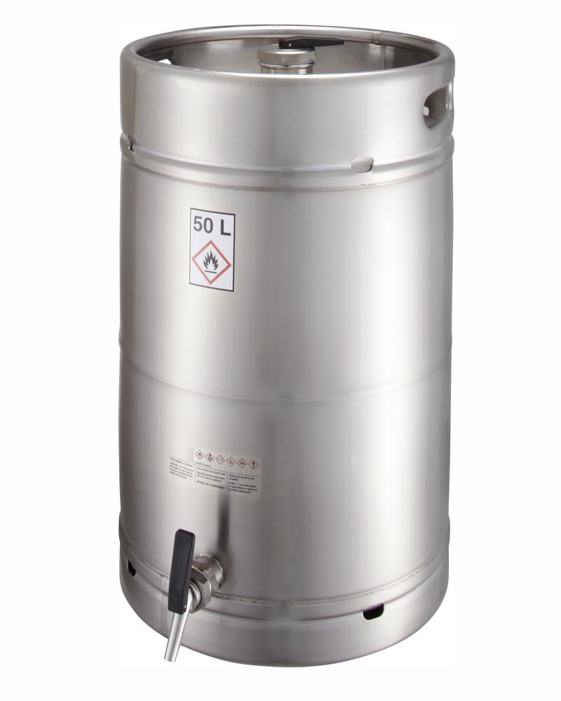 Stainless steel container, 50 ltr with tap 3/4