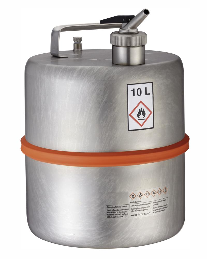 Stainless steel container with dosing tap, 10 ltr