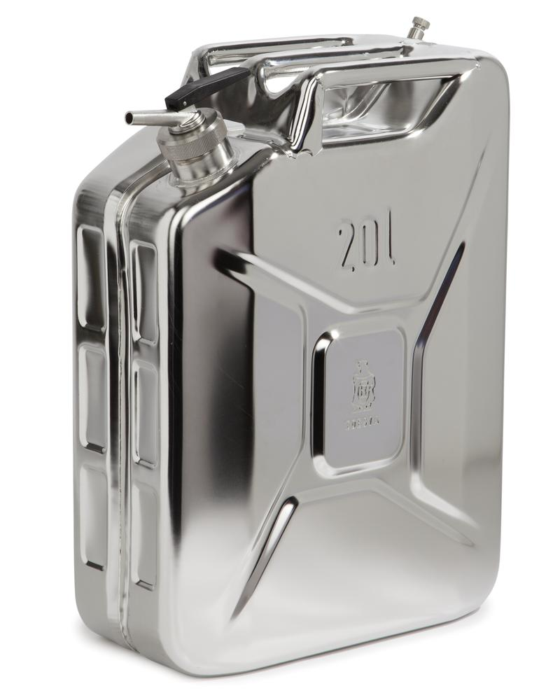Stainless Steel Fuel Can, With Fine Measuring Tap, 20l