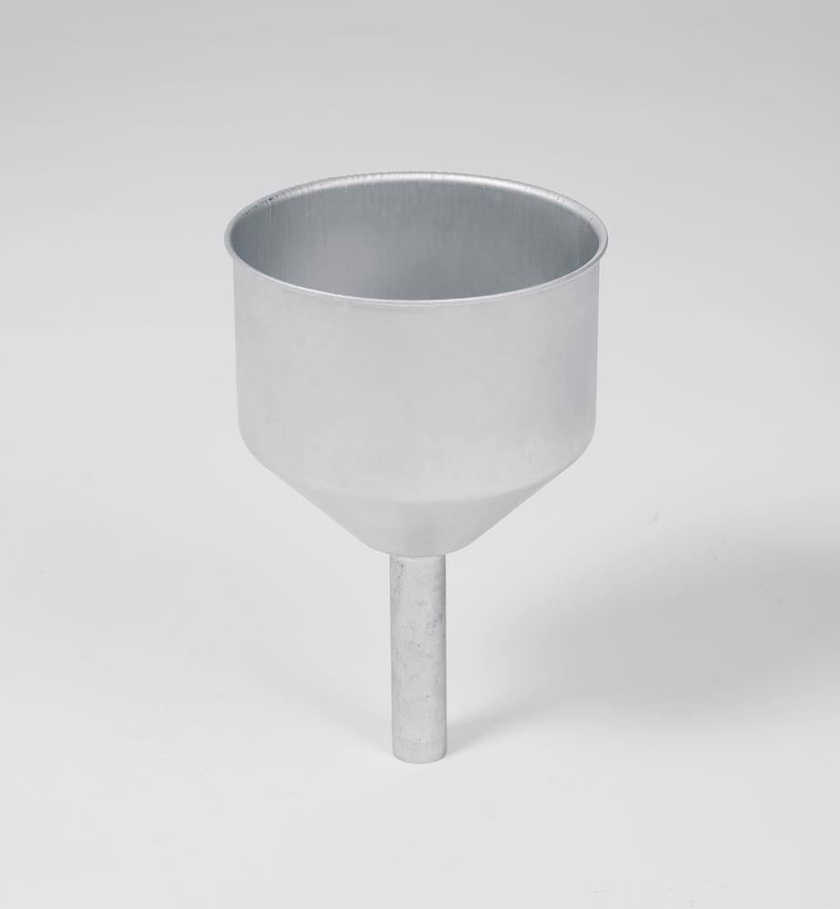Stainless Steel funnel for safety containers, neck 23 x 95 mm, diameter feed opening = 138 mm - 1