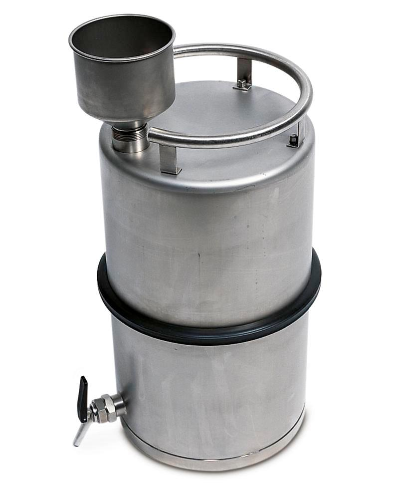Stainless steel funnels for containers - 1