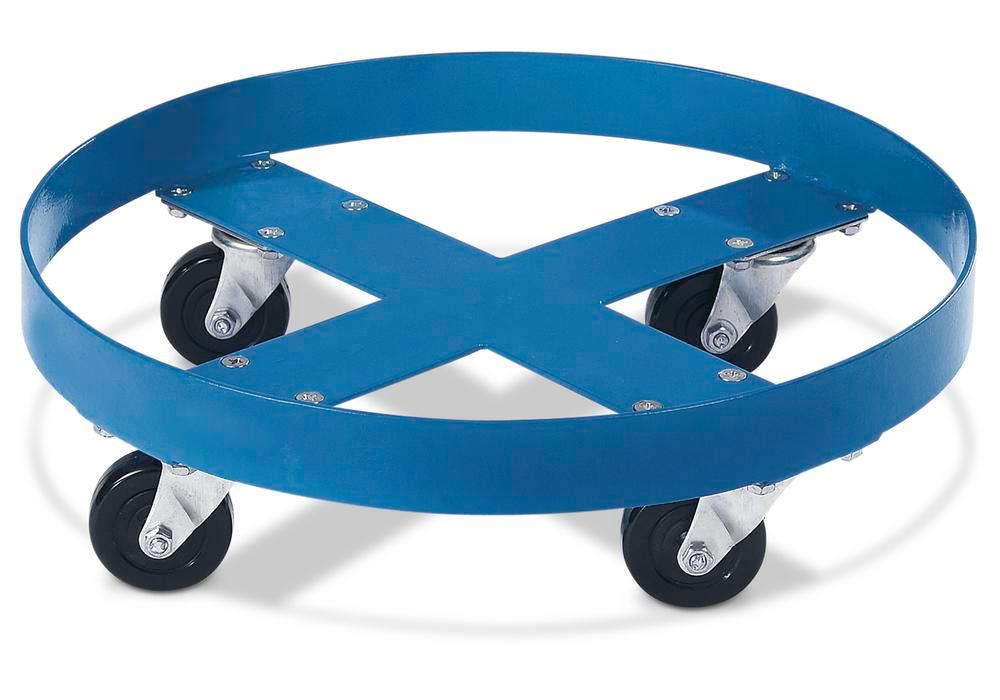Steel drum dolly for 205 litre drums