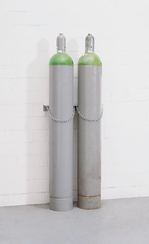 Steel Gas Cylinder Mounting Support Model WH 230-S2 - 2 Cylinders