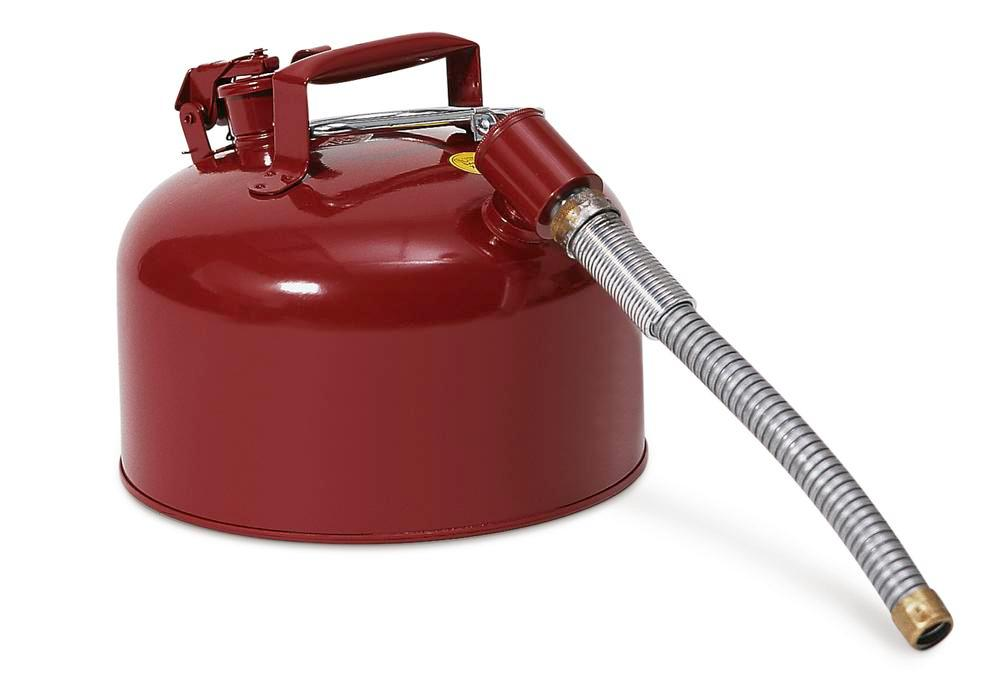 Steel safety container flex. 8 ltr, red