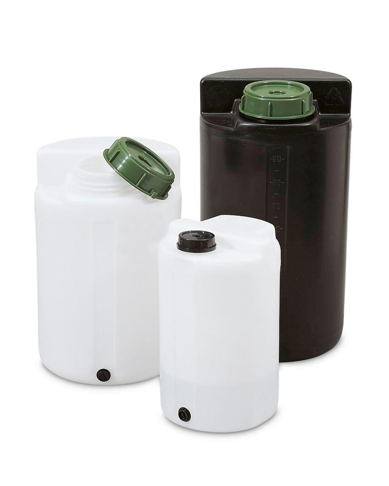 Storage and pouring containers 60 ltr, transparent
