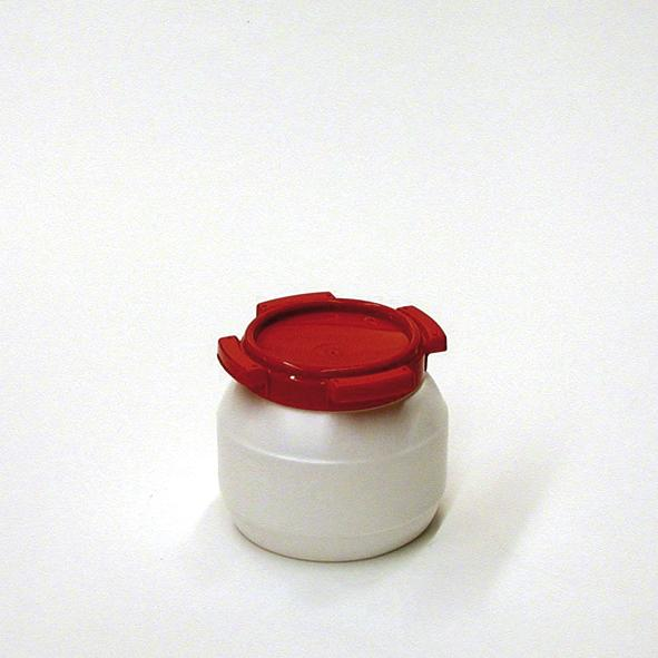 Wide Necked Drum WH 3 White/Red 3,6 l