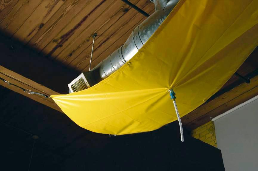 Drip catcher, 145 x 145 cm, yellow