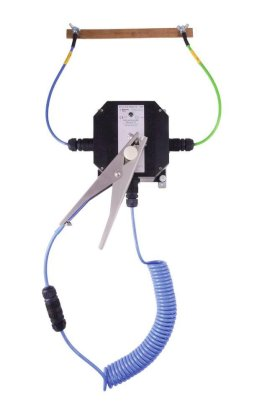 Earthing wall station w. LED remote display, 5 m cable w. st. steel clip MD 120 mm, battery, ATEX-w280px