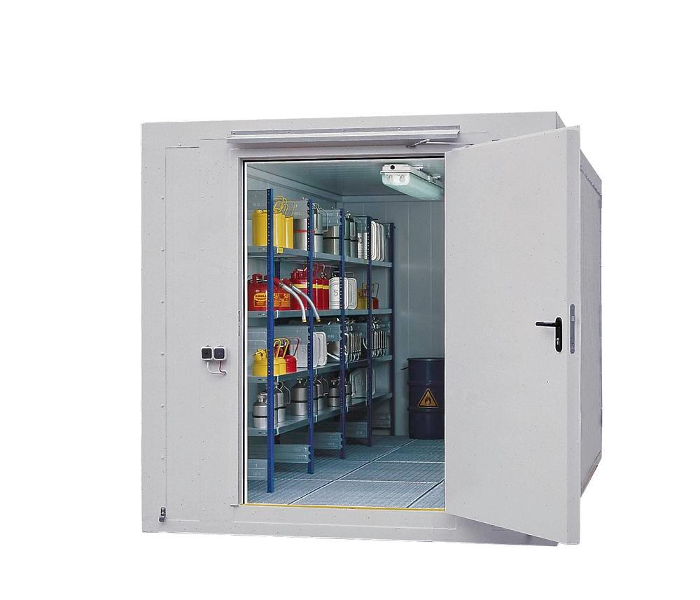 Fire protection container BMC-K 240 with 1 wing door T90 on the short side