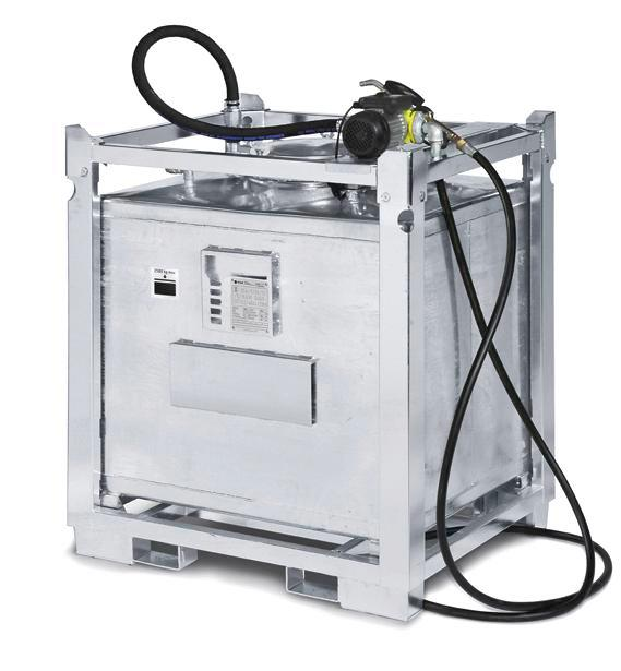 Lubricant container 1000 litres with pump, hose, nozzle and digital counter