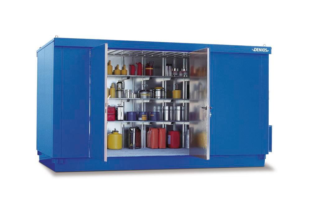 Module container MC 4320-L-ISO, galvanized. + painted, with 2 wing doors on the long side