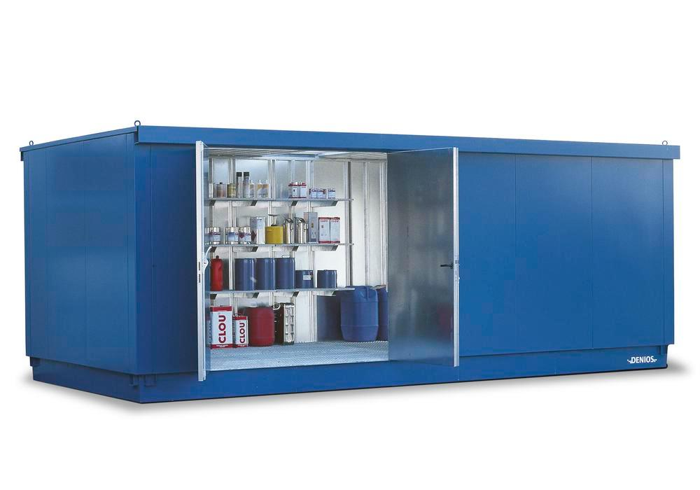 Module container MC 6320-L-ISO, galvanized. + painted, with 2 wing doors on the long side