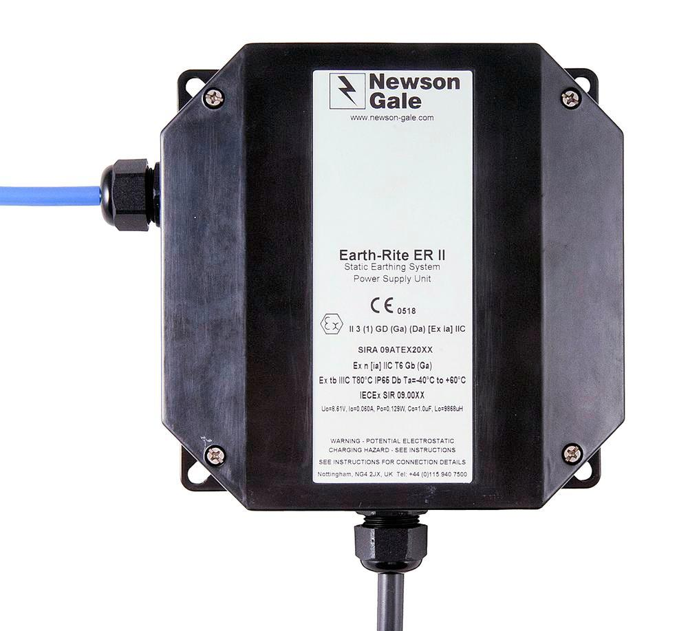 Power supply unit for EP earthing station, 240 V, wall-mounted box, Atex - 1