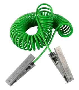 Spiral earthing cable with 2 SS earthing clips MD, ATEX approval, 5 m cable-w280px