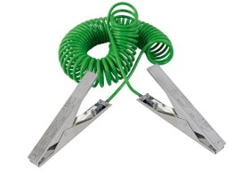 Spiral earthing cable with 2 st. steel earthing clips heavy duty 235 mm, 5 m pull-out length, ATEX-w280px