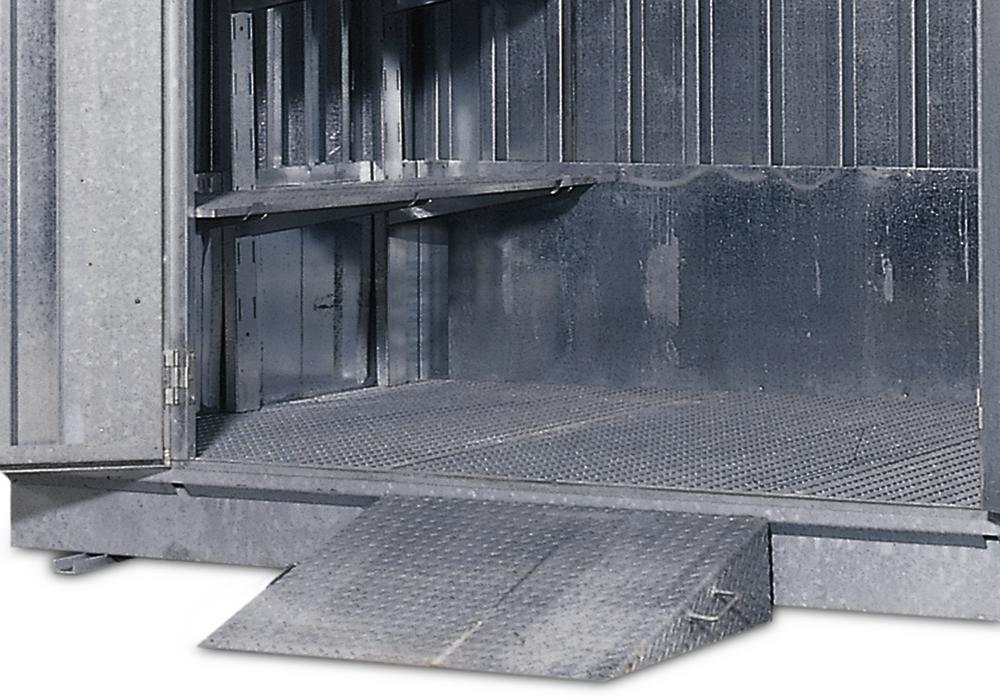Steel ramp, hot-dip galvanised