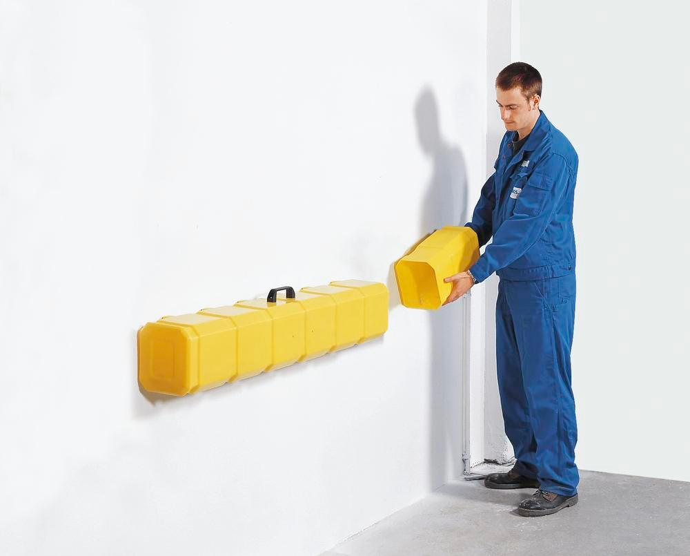 Storage box for sealant mats to 600 x 600 mm and diameter 450 mm