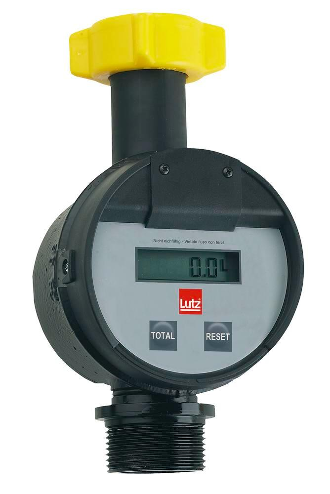 Throughflow meter for drum and container pumps