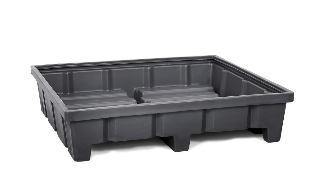 Pallet racking sump RWP 14.3, polyethylene, for use with 1400mm width shelves, height 315 mm