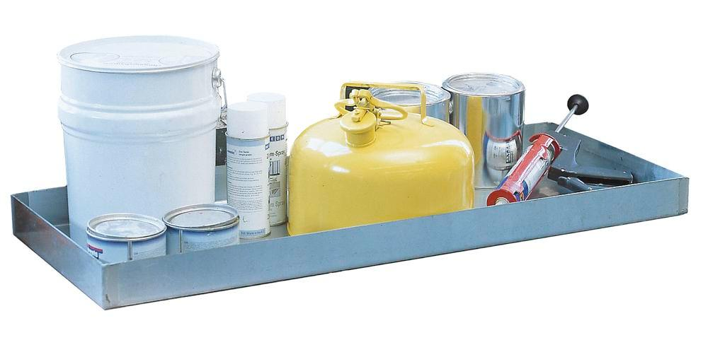 Spill tray GRW 10.4, galvanized steel, 20 litre capacity