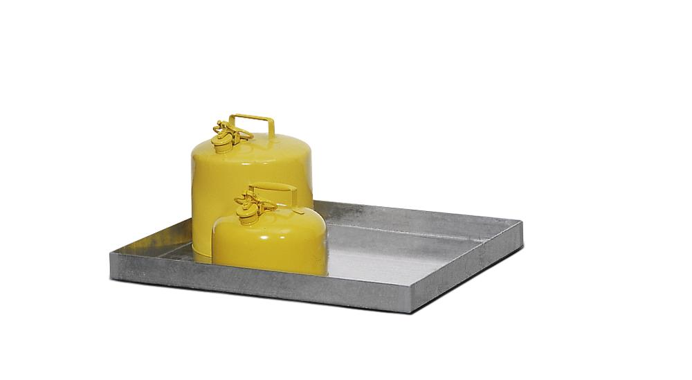 Spill tray GRW 10.6, galvanized steel, 30 litre capacity