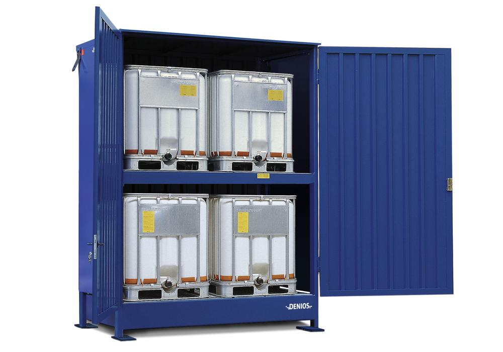System container 2K 214.OTE-ISO A, for storing flammable substances, with wing doors