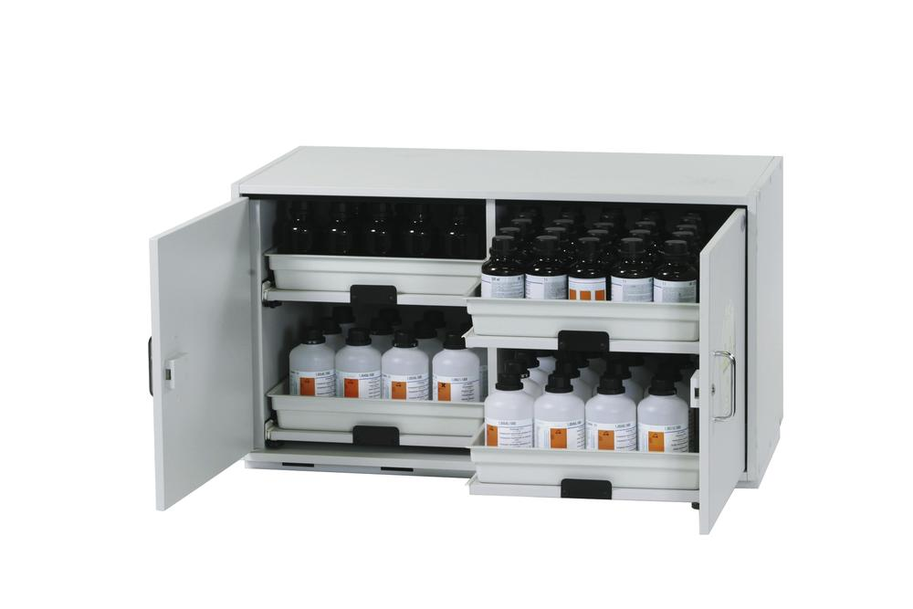 Acids and alkalis cabinet SL 114 with 2 wing doors and 4 slide-out sumps