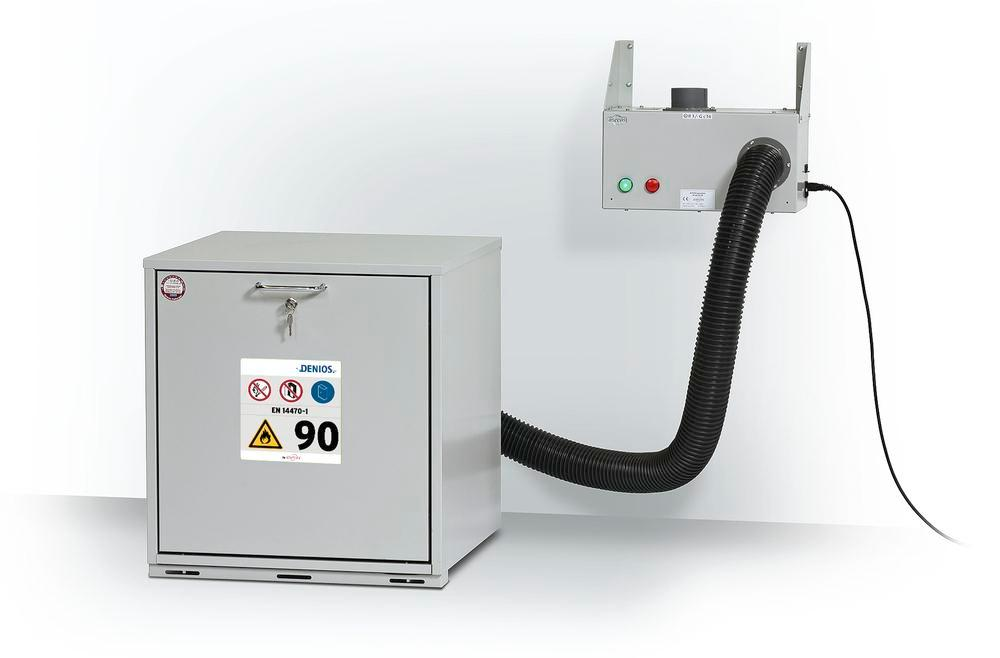 Air bleed kit for under-bench cabinets with monitoring system and alarm switch for wall mounting