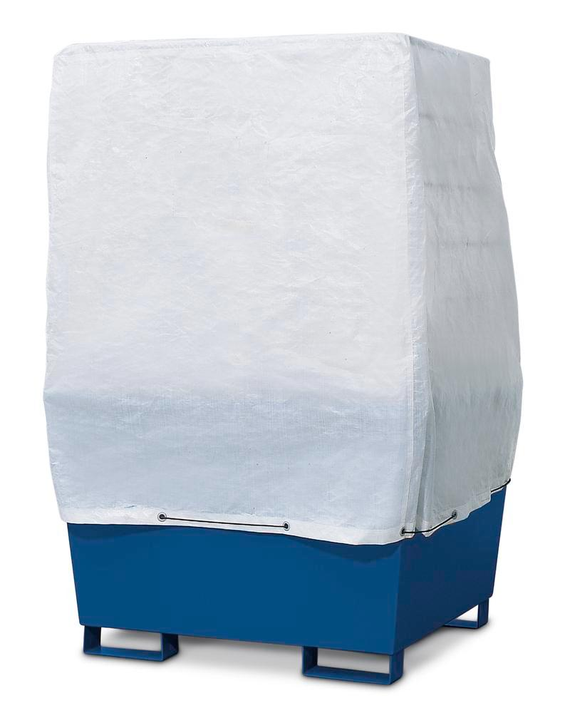 Covers for spill pallets without dispensing area for 1 IBC