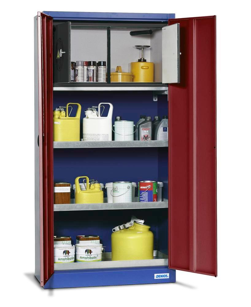 Environmental cabinet UWS 19 Plus with 1 spillage decking as per Stawa-R, 2 sump shelves and safety