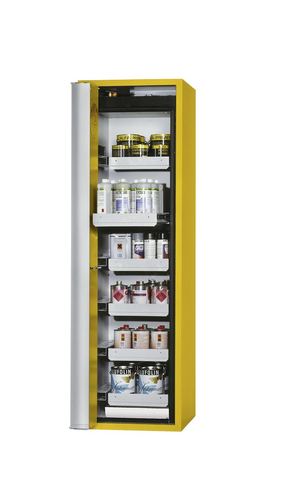 Fire Resistant Safety Cabinet GF-750.6, yellow, left hinged door, 6 drawers