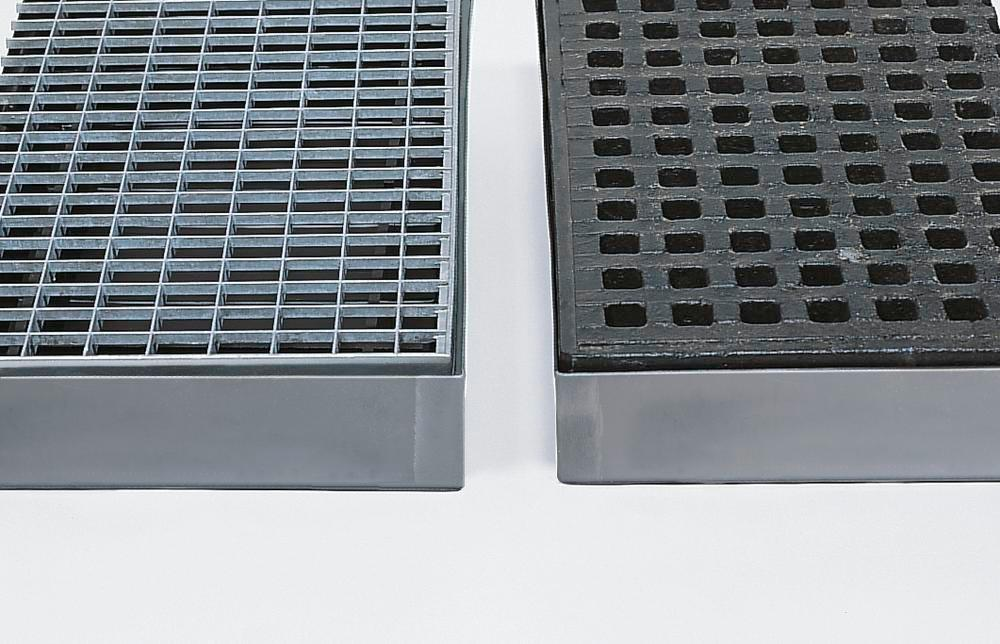 Grid, galvanized steel, for use with steel spill tray KBS 40 with 40 litre capacity - 1