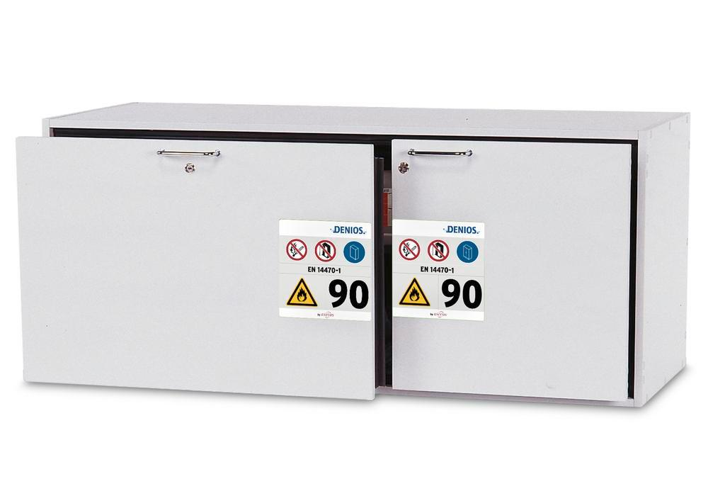Hazardous materials cabinet GU 140 grey F30
