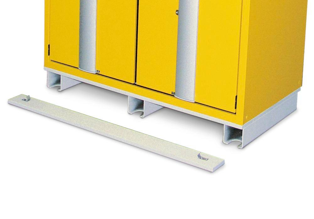 Transport base for hazardous material cabinets, 900 mm wide