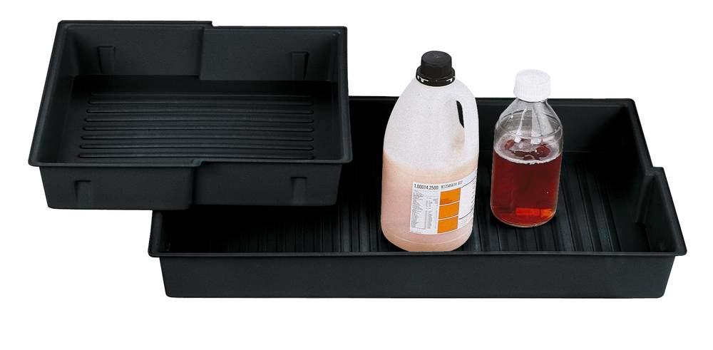 Plastic polyethylene (PE) inliner for spillage decking for chemicals cabinet Space 124, type B - 1