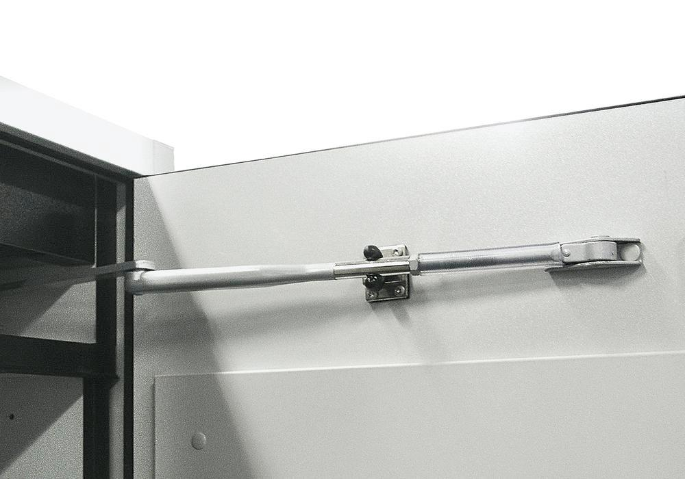Door retaining device for hazardous material cabinet G-601/G-600-F