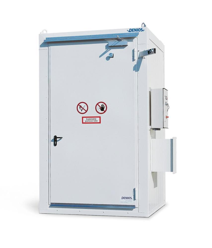 REI90 fire-rated strge cont. BMC-S 180-2 w EI90 door, for 2 x 205 l drums, storage area approx. 2 m²