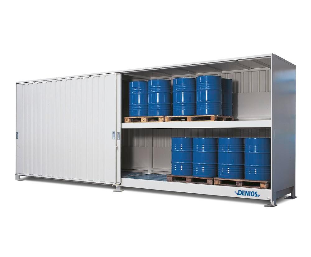 System container 2P 814.OST-ISO A, for storing flammable substances, with sliding doors